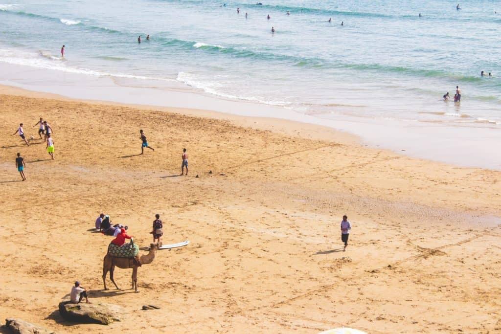 Agadír a pláž