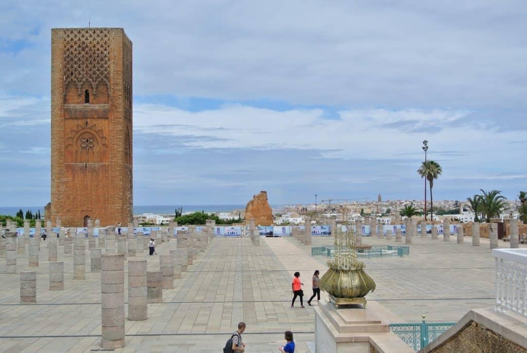Nedostavěná mešita v Rabatu - zůstal jen MInaret