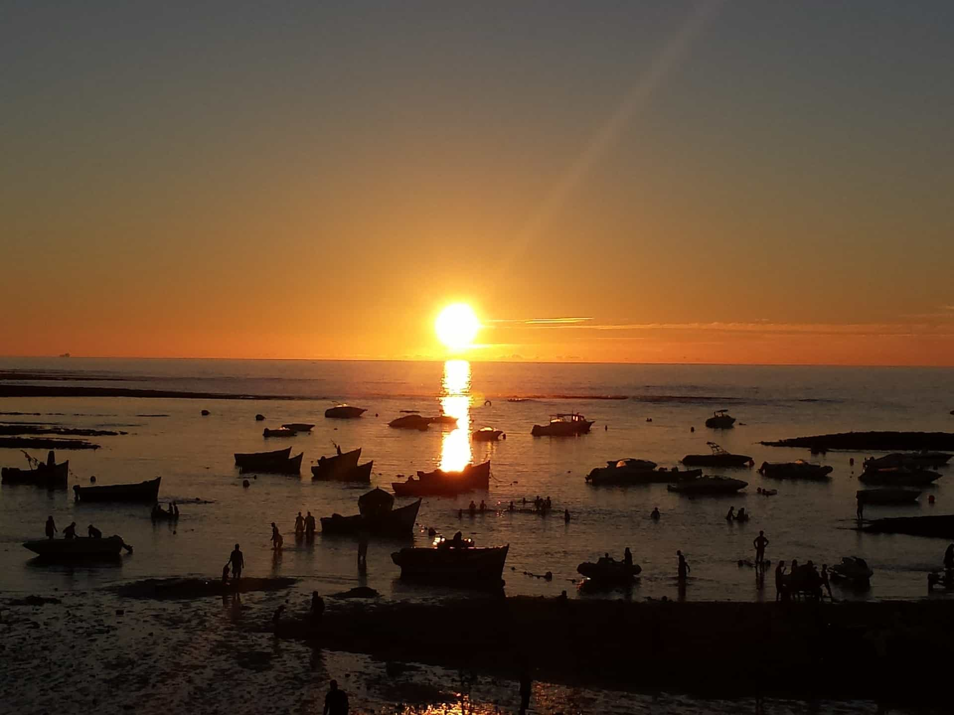 Casablanca západ slunce