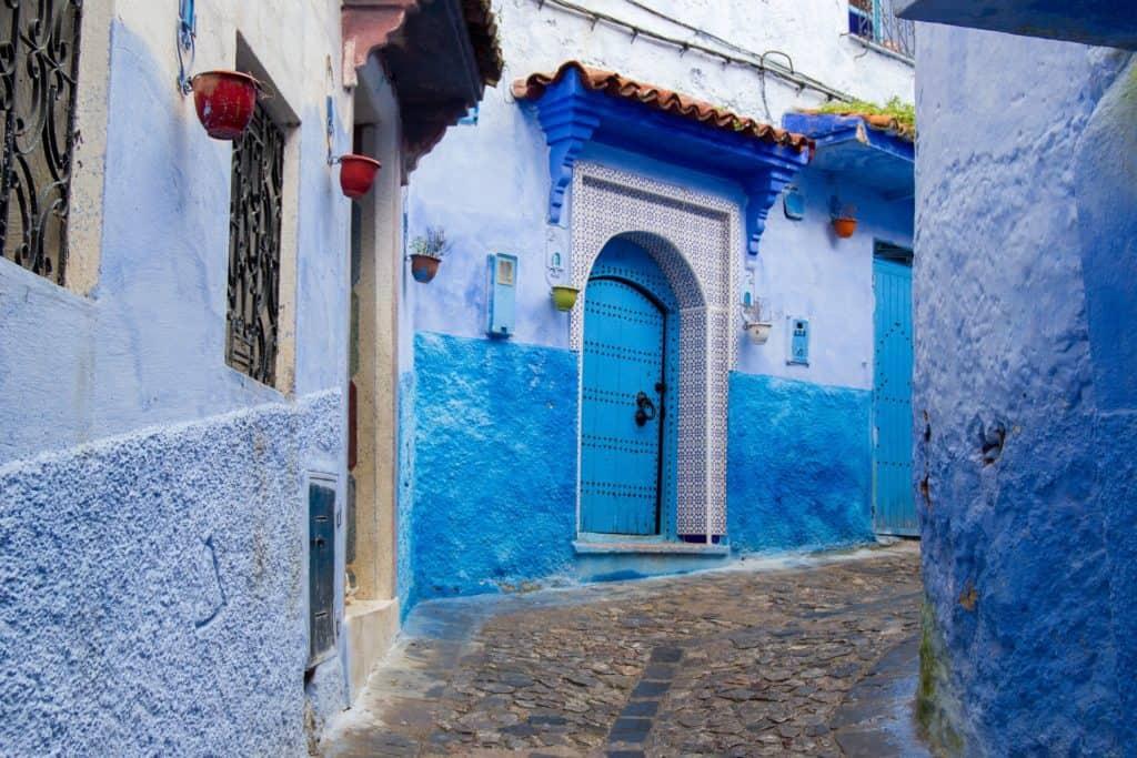 Modré město v Maroku