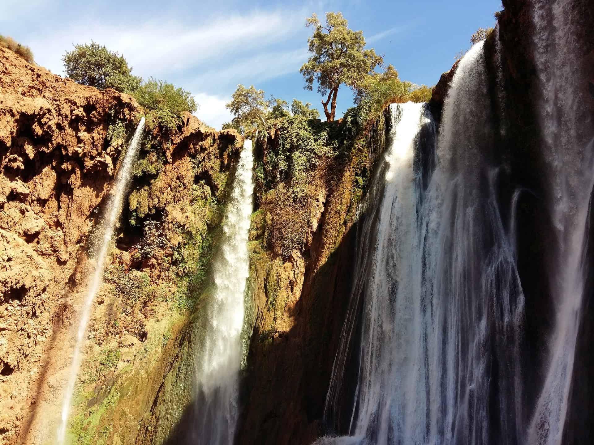 Vodopády Ouzoud v Maroku